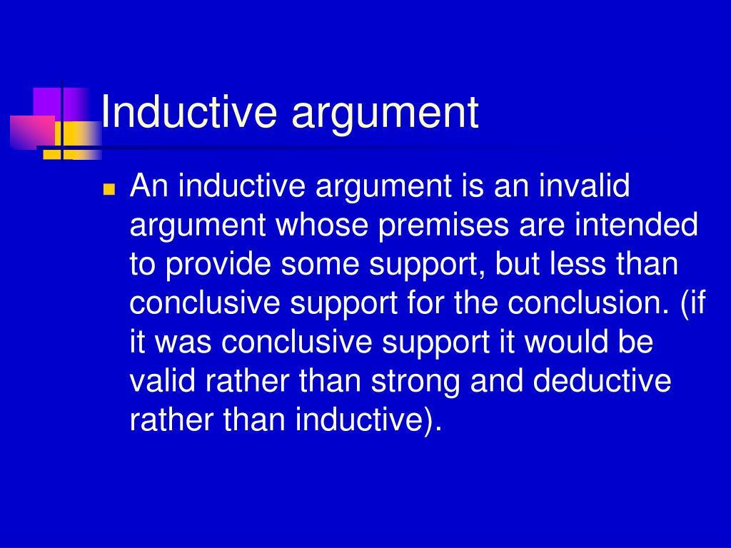 Inductive argument