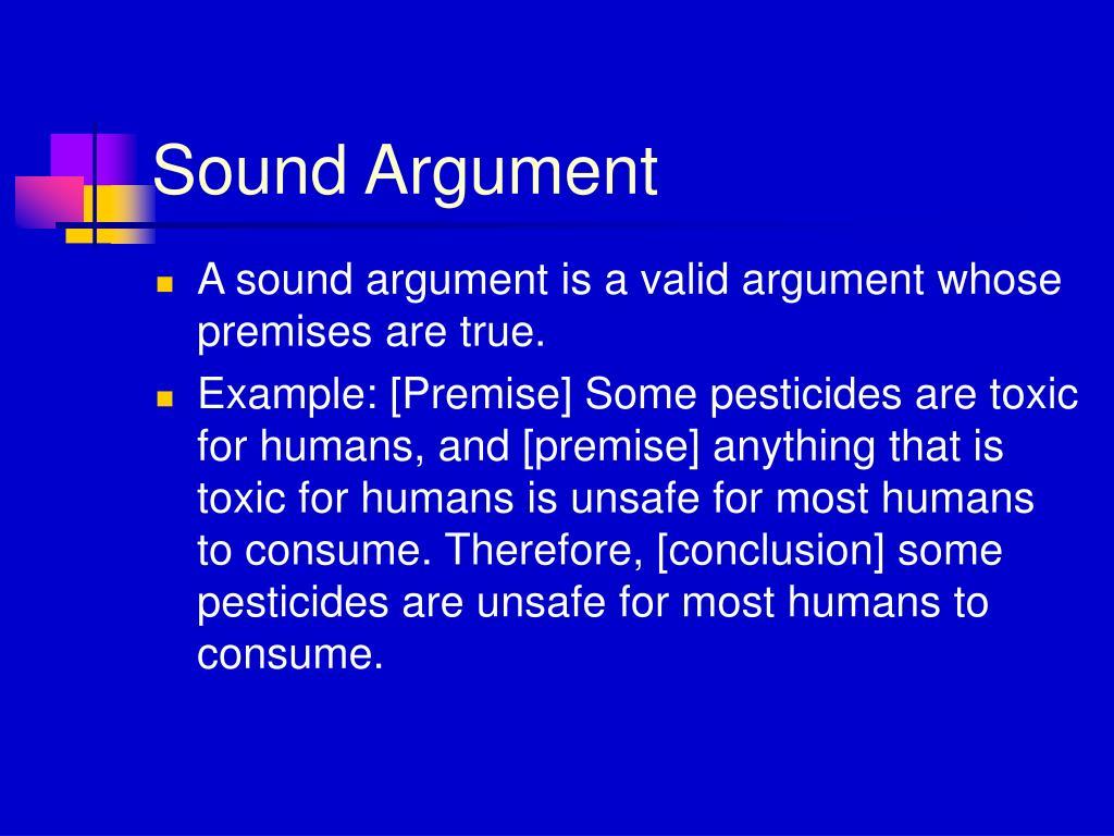 Sound Argument