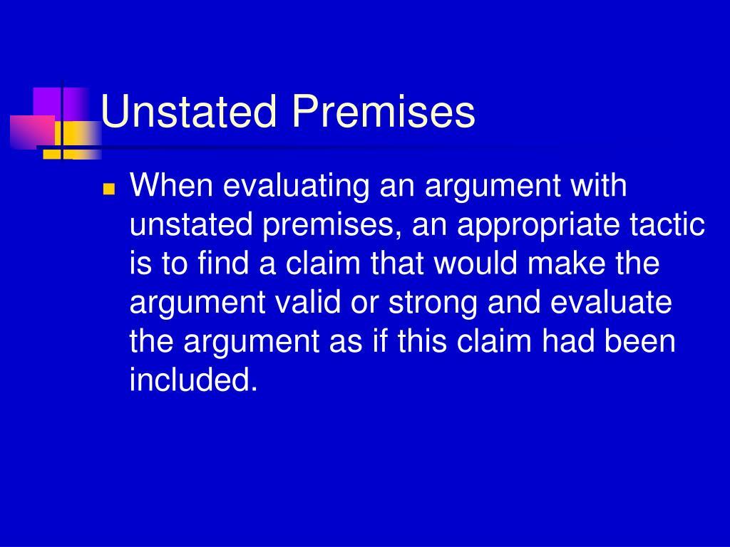 Unstated Premises