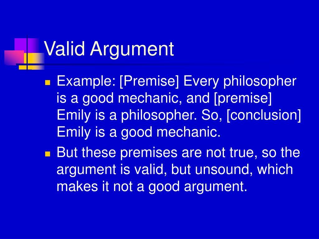 Valid Argument