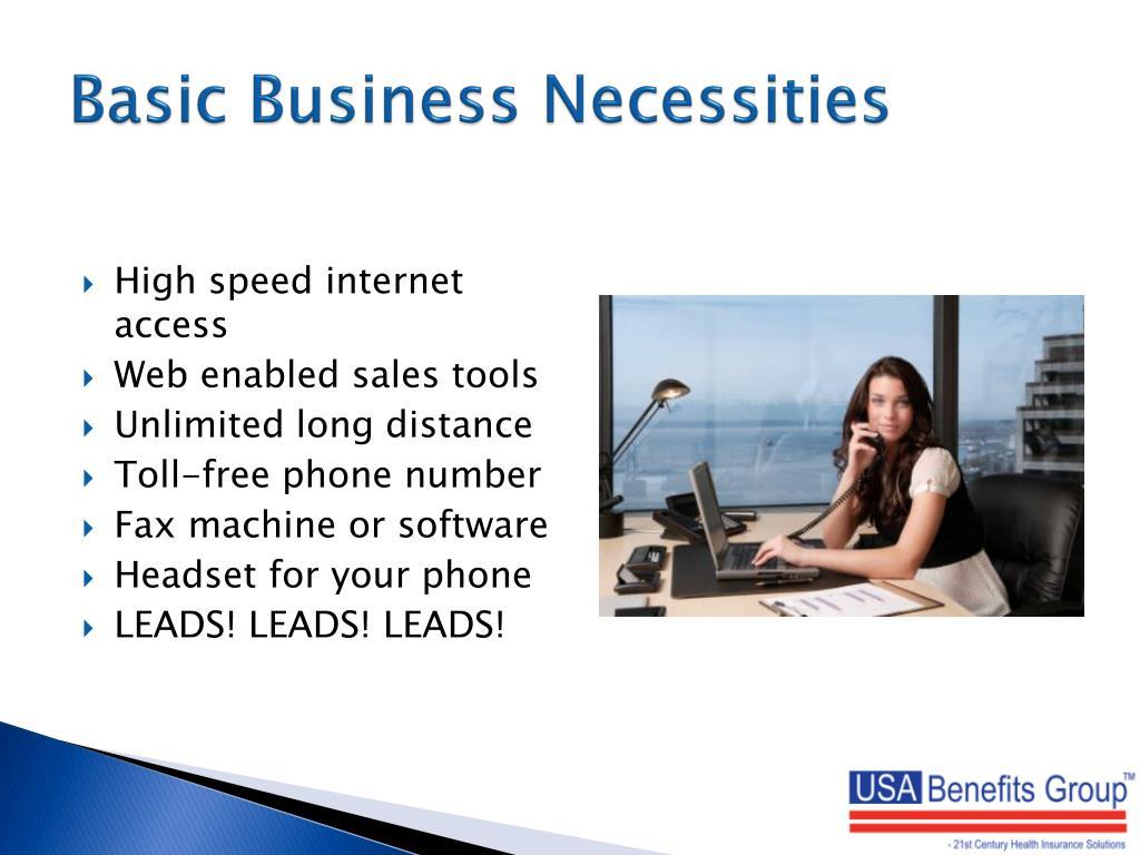 Basic Business Necessities