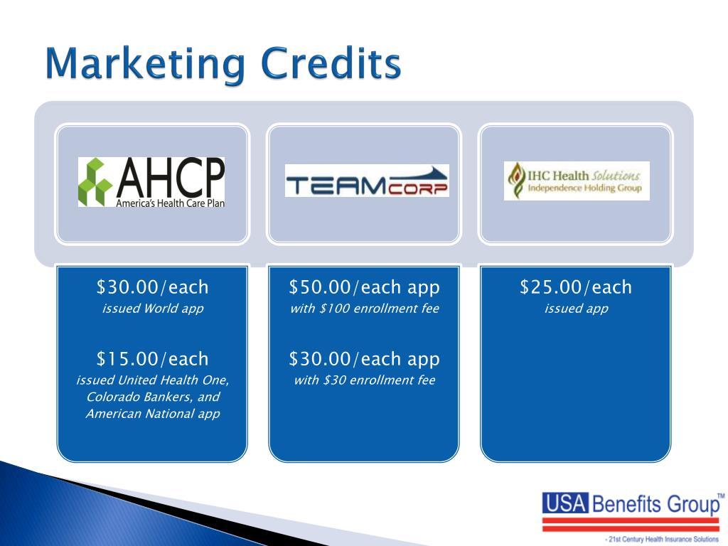 Marketing Credits