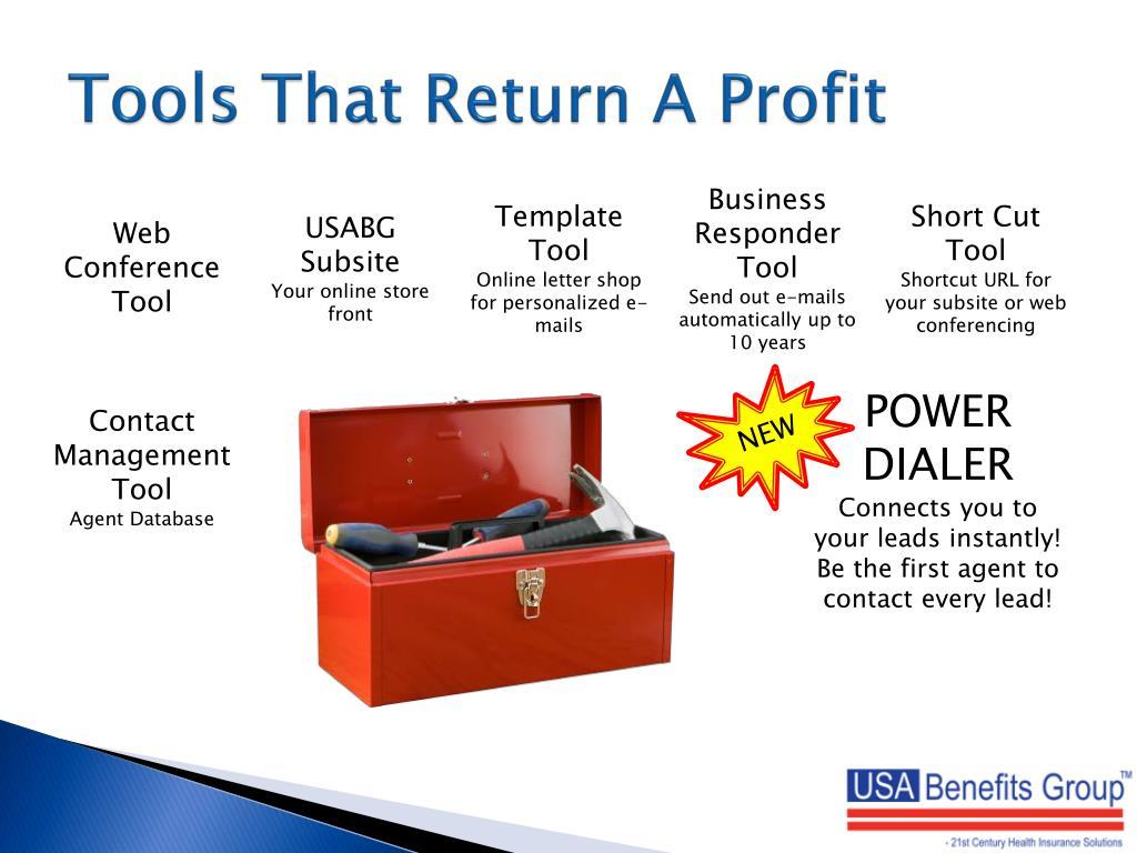Tools That Return A Profit