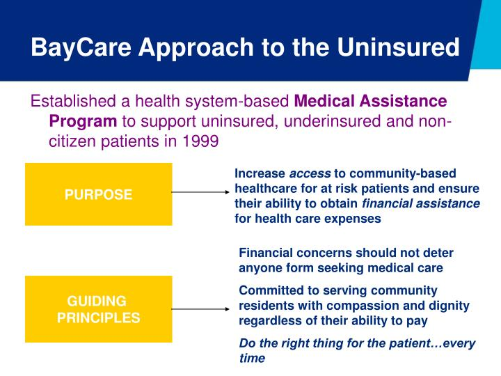 BayCare Approach to the Uninsured