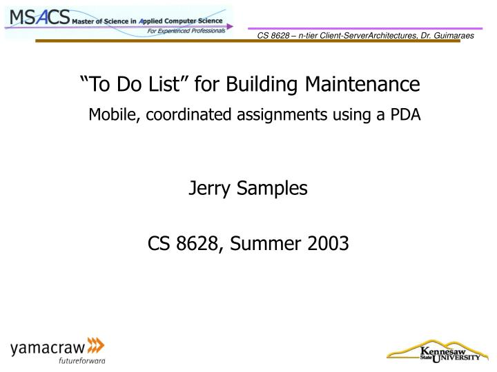 to do list for building maintenance n.