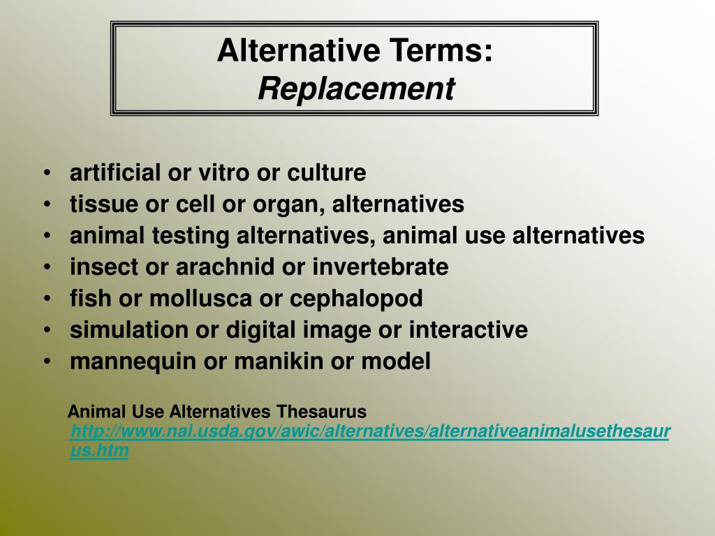 Alternative Terms: