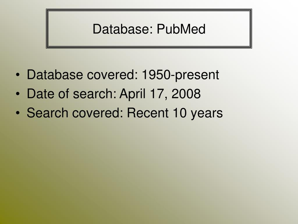 Database: PubMed