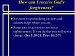 how can i receive god s forgiveness70