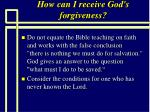 how can i receive god s forgiveness77
