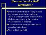 how can i receive god s forgiveness78