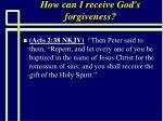 how can i receive god s forgiveness85