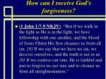 how can i receive god s forgiveness90