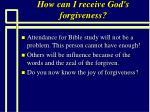 how can i receive god s forgiveness96