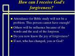 how can i receive god s forgiveness97