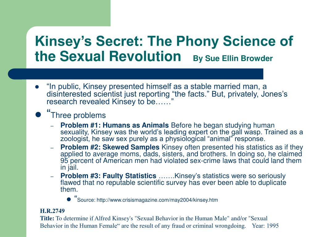 Kinsey's Secret: The Phony Science of the Sexual Revolution