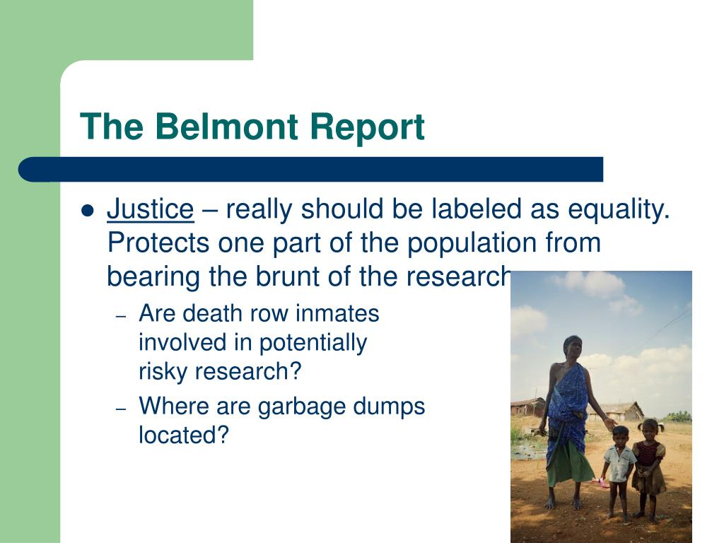 The Belmont Report