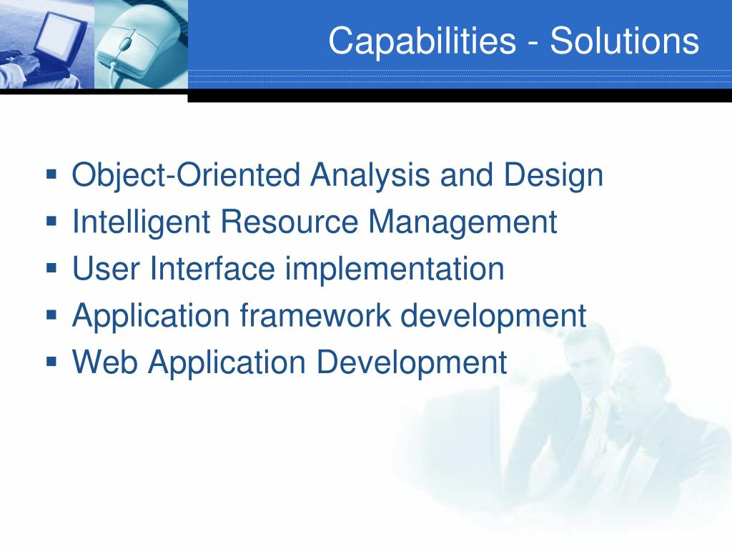 Capabilities - Solutions