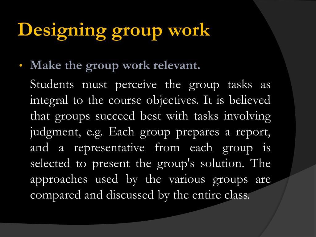 Designing group work