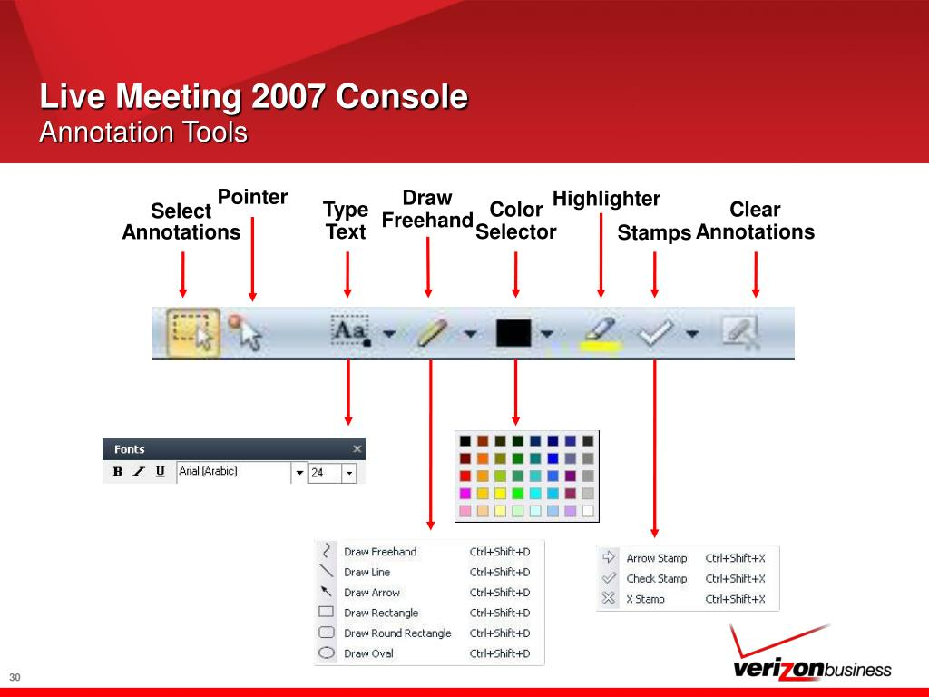 Live Meeting 2007 Console