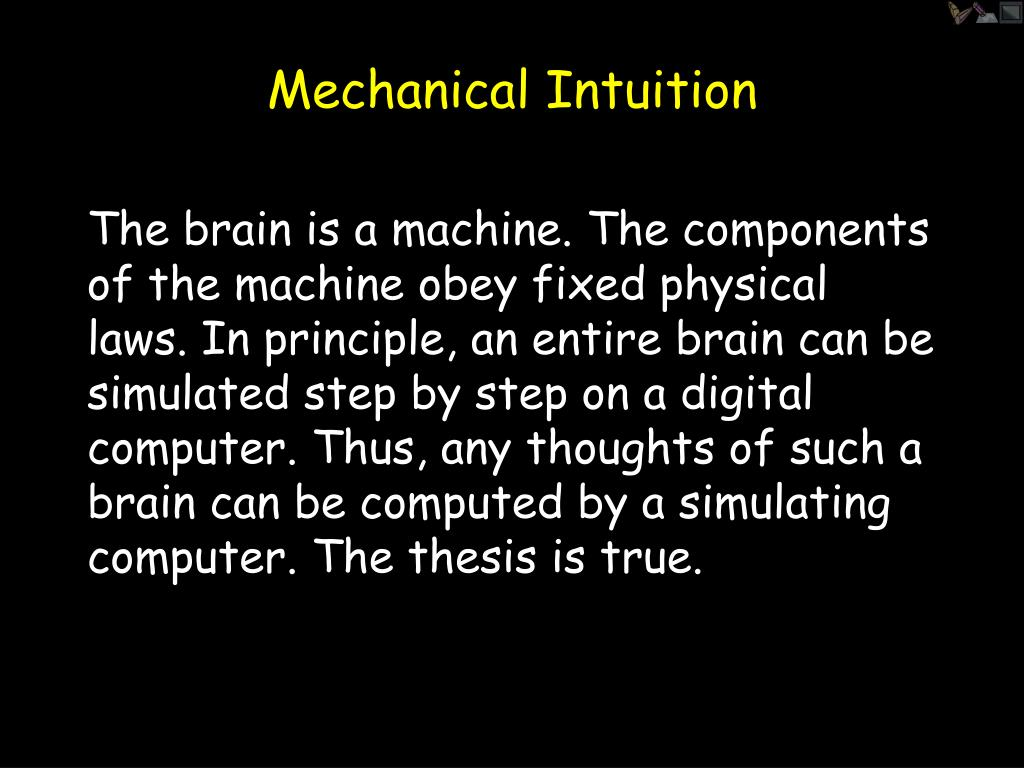 Mechanical Intuition
