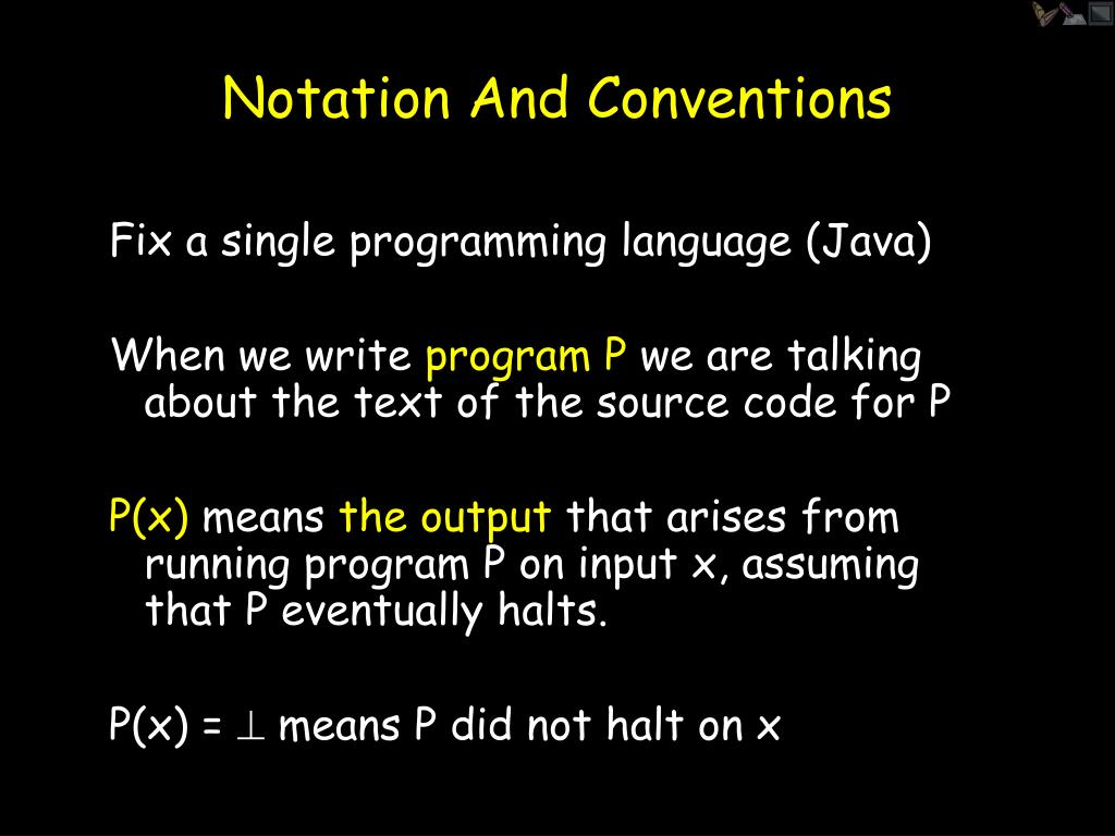 Notation And Conventions