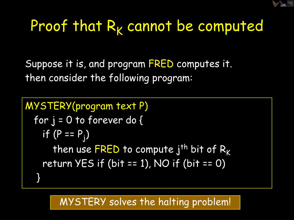 Proof that R