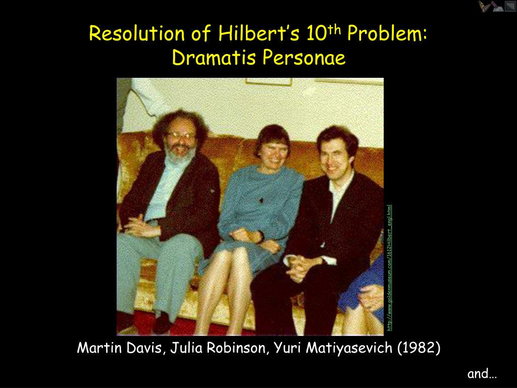 Resolution of Hilbert's 10