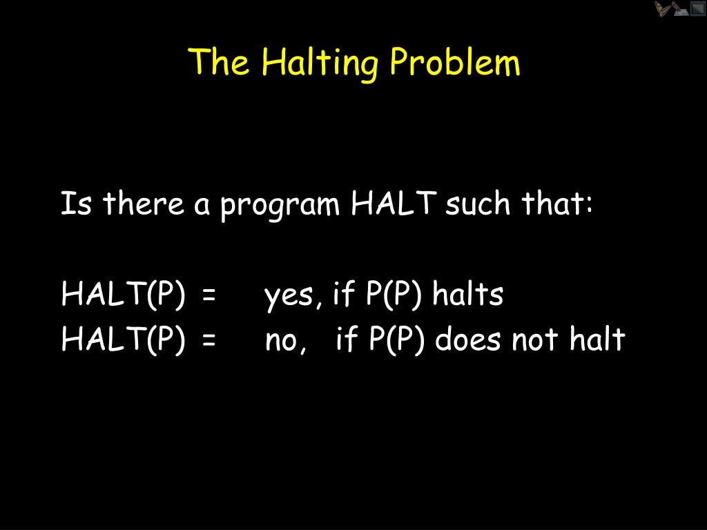 The Halting Problem