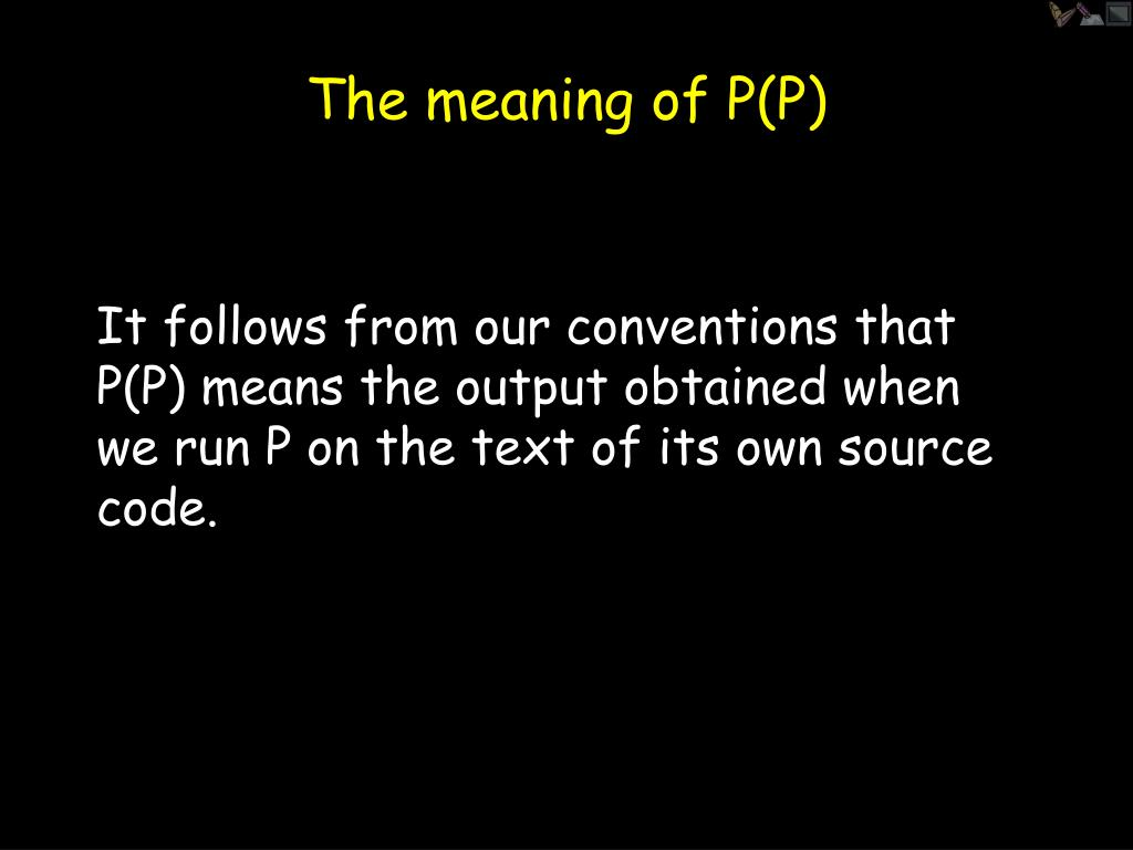 The meaning of P(P)
