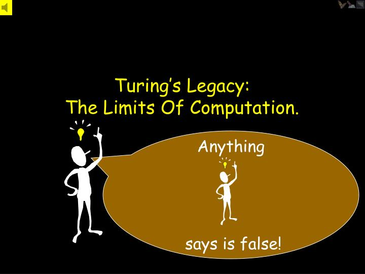 Turing s legacy the limits of computation