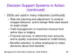 decision support systems in action continued29