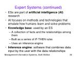 expert systems continued34