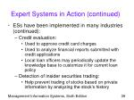expert systems in action continued39