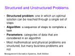 structured and unstructured problems