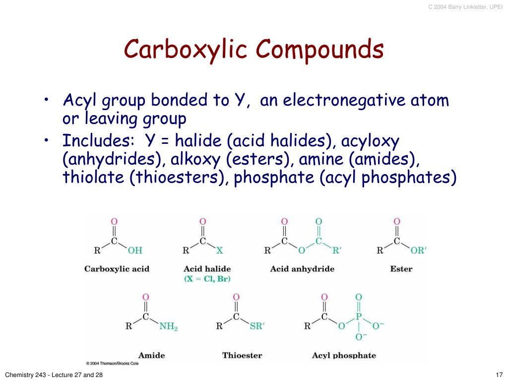 Carboxylic Compounds