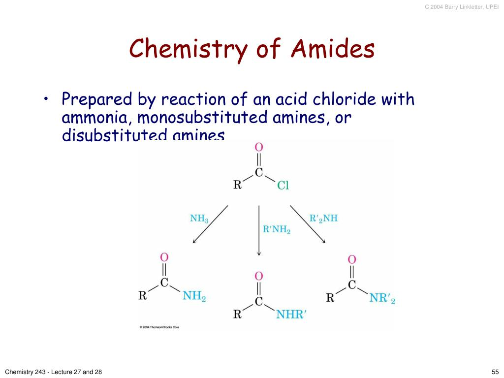 Chemistry of Amides