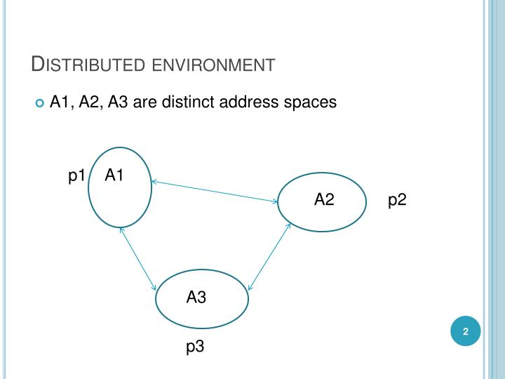 Distributed environment