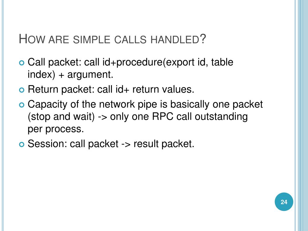 How are simple calls handled?