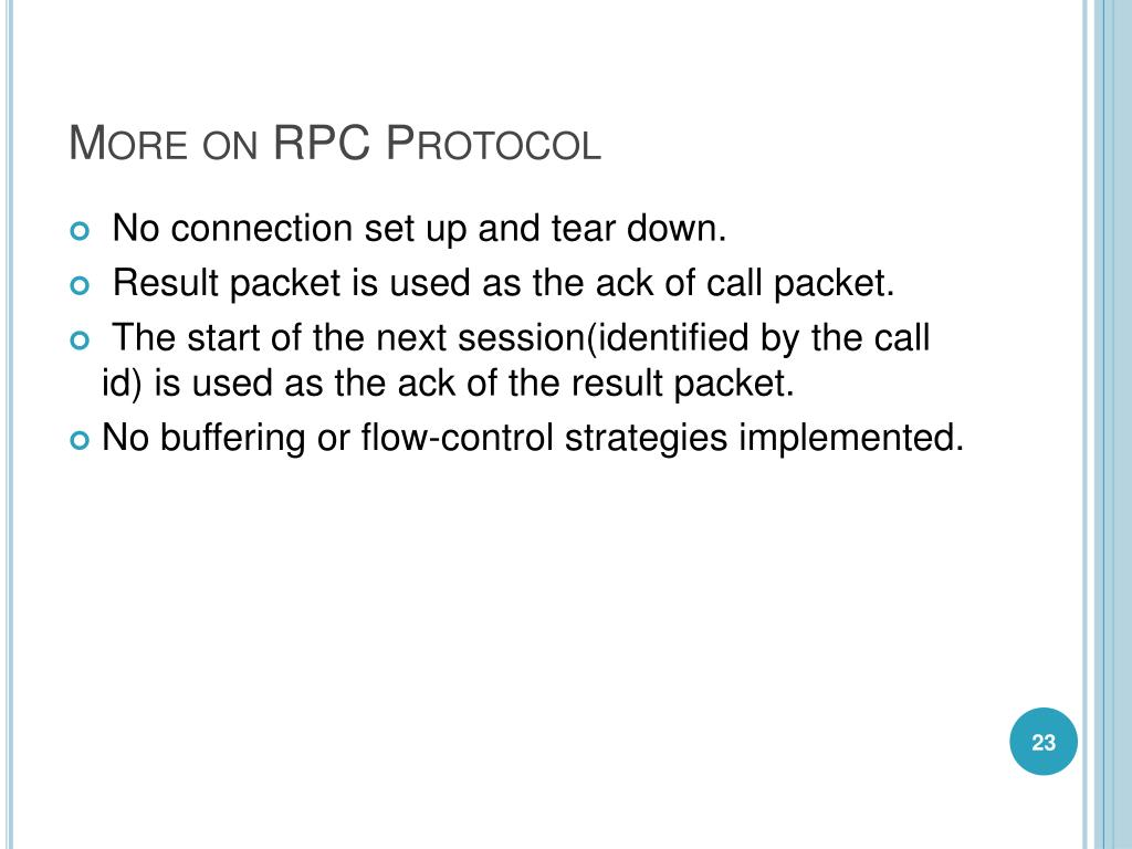 More on RPC Protocol
