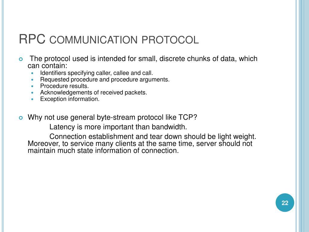 RPC communication protocol