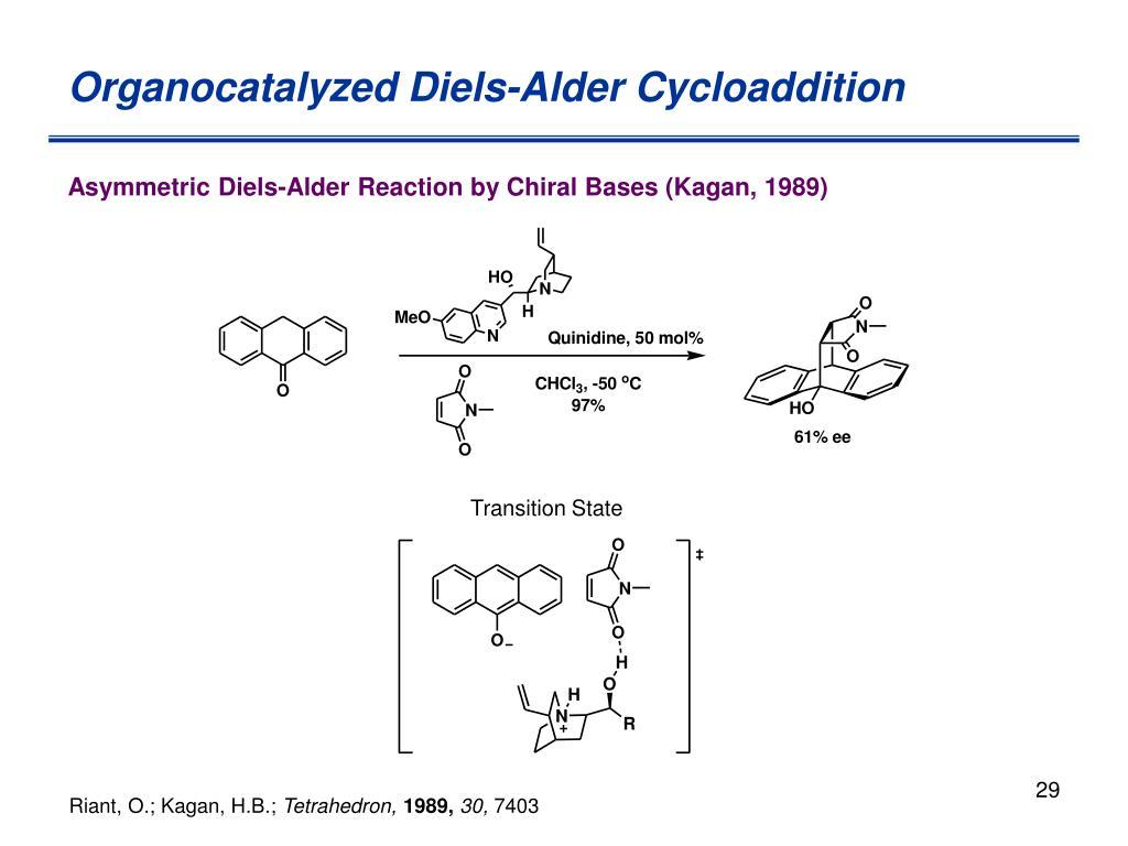 Organocatalyzed Diels-Alder Cycloaddition