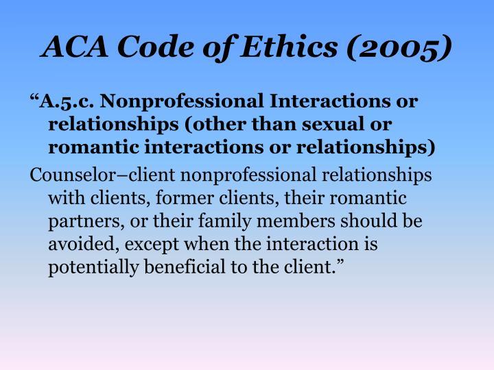 aca code of ethics