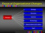 focus of organizational changes