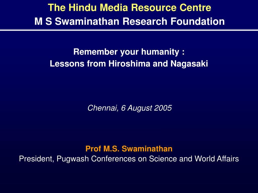 The Hindu Media Resource Centre