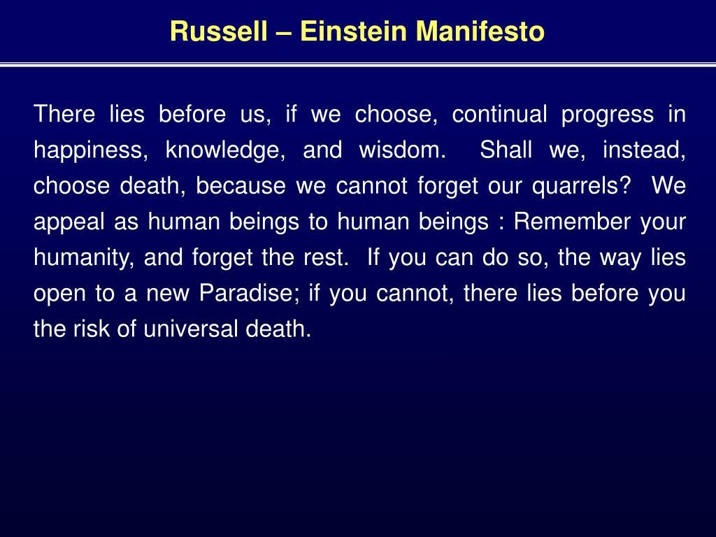 Russell – Einstein Manifesto