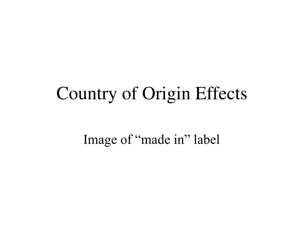 country of origin effects l.