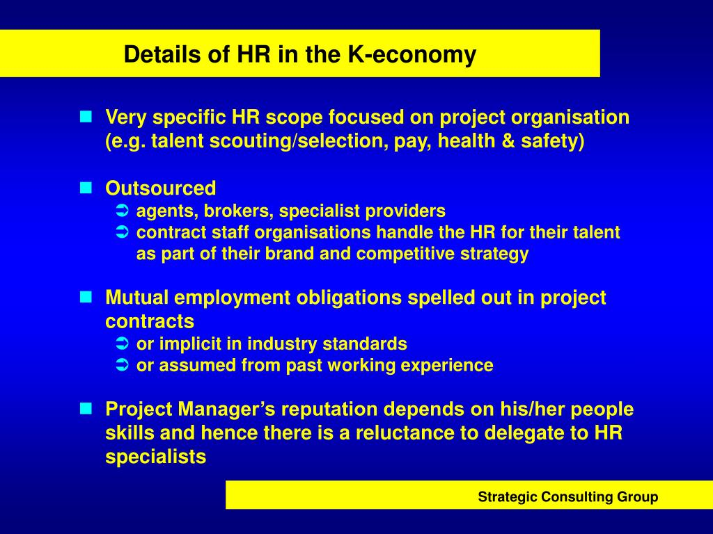Details of HR in the K-economy