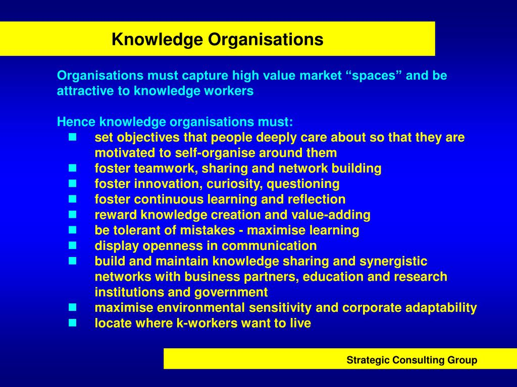 Knowledge Organisations