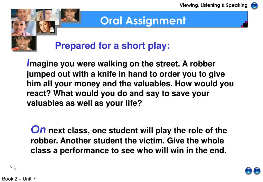 Oral Assignment