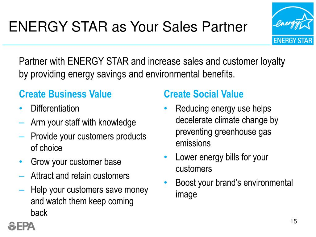 ENERGY STAR as Your Sales Partner